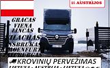 10d./11d./12d. iš AUSTRIJOS į LIETUVĄ Galime parvežti jūsų krovinius, baldus, buitine technika, motociklus, kubilus, pirtis, įrengimus, medžiagas ir t
