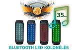 AKCIJA! AEC Bluetooth garso kolonėlė su pulsuojančiomis LED šviesomis