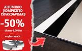 Aliuminio kompozitas tik nuo 2,00 Eur/vnt