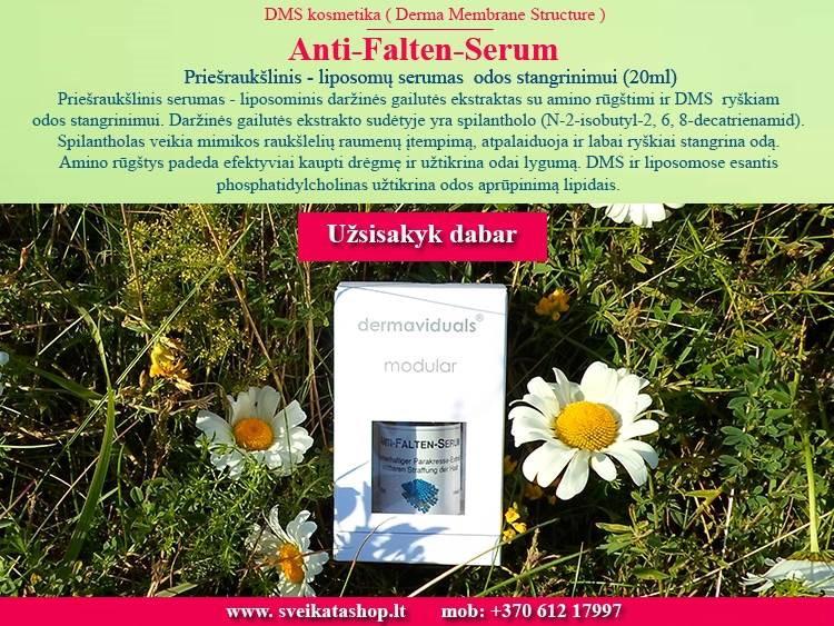 Anti-Falten-Serum 20 ml, kosmetika dermaviduals Vokietija - AKCIJA