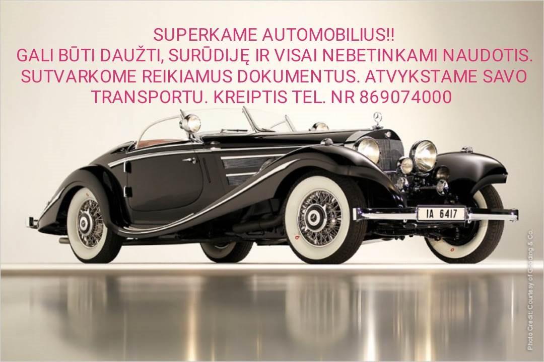Automobilių supirkimas!