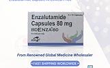 BDR Bdenza Enzalutamide 80 mg kapsulės mažiausiomis kainomis internete