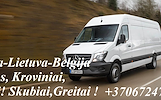 Belgija-Lietuva-Belgija Siuntos, Kroviniai, Baldai! Skubiai,Greitai ! Transportuojam ( BALDUS,BUITINĘ TECHNIKĄ, ĮVAIRIAS STATYBINES MEDŽIAGAS,RŪBUS,EU