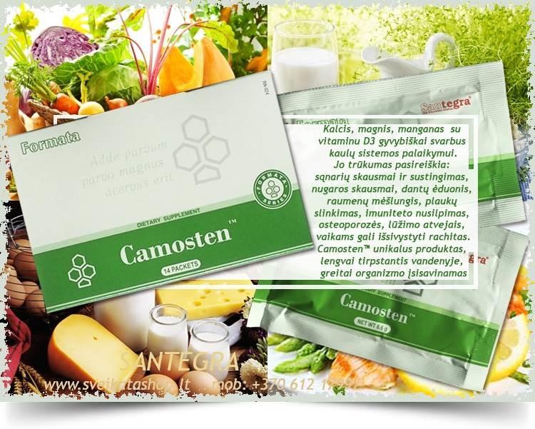 Camosten™ 14 pak, sąnariams, kaulams, kremzlėms – maisto papildas Santegra JAV – PIGIAU