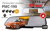 Dabar tik 89 eur! Pmc-190 parkavimo sistema veidrodyje