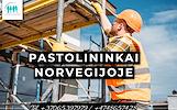 Darbas Pastolių montuotojams Norvegijoje