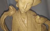 Didelė kinų dramblio kaulo meno statulos skulptūros moteris, Skulptūros