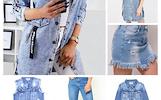 Džinsiniai rūbai: džinsai, sijonai, švarkai, liemenės