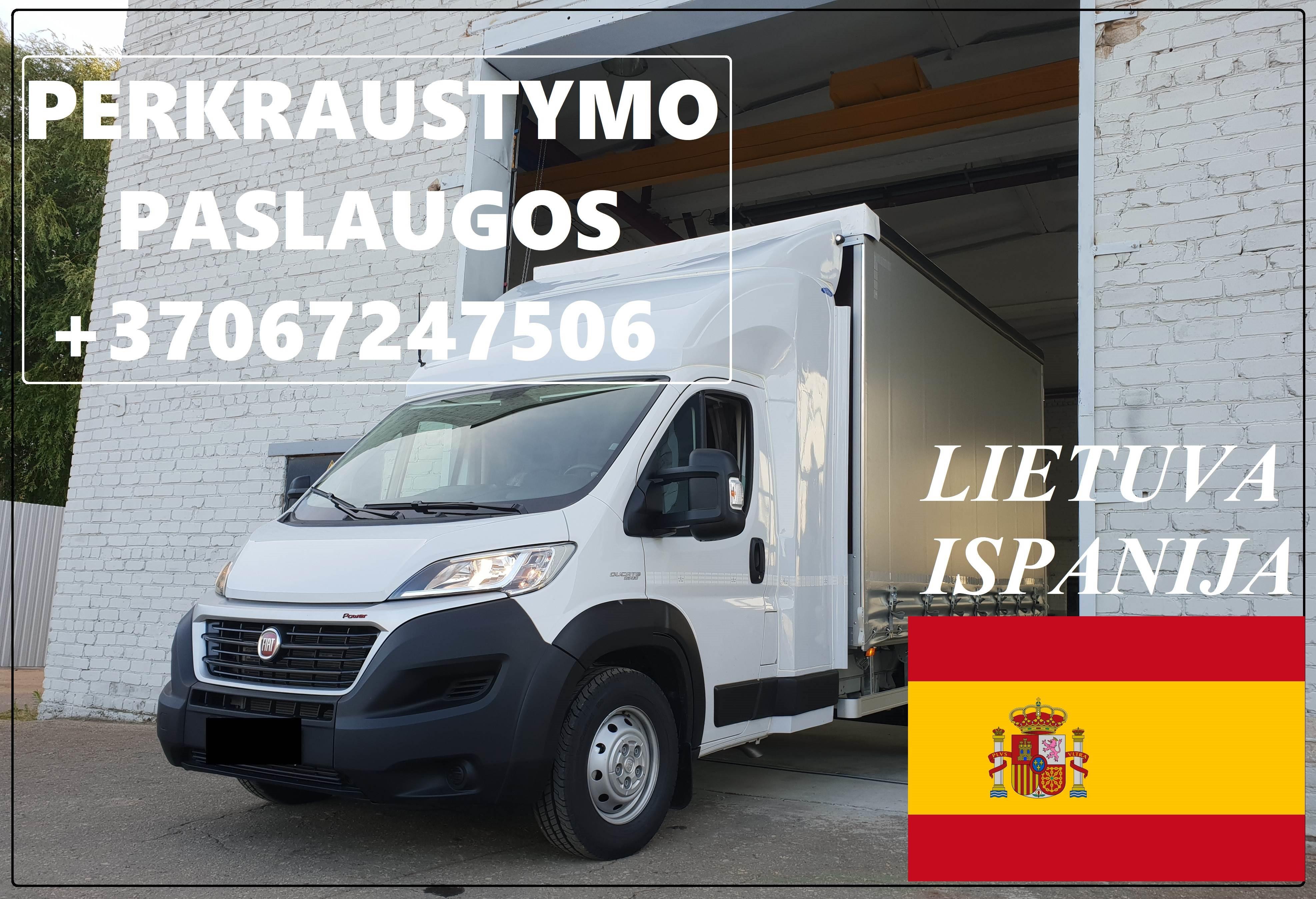 Eksponatų ir parodų įrangos pervežimas Lietuva – Ispanija  – Lietuva