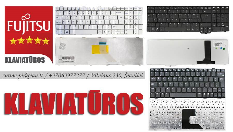 FUJITSU nešiojamo kompiuterio klaviatūros PIGIAUSIAI