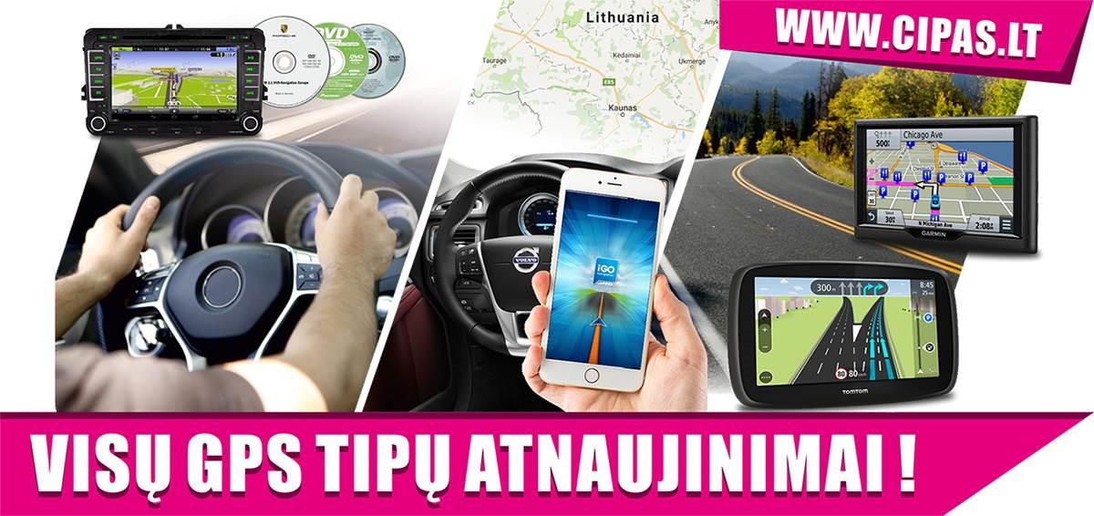 GPS NAVIGACIJOS ŽEMĖLAPIŲ ATNAUJINIMAS, ĮDIEGIMAS NUO 10 EUR