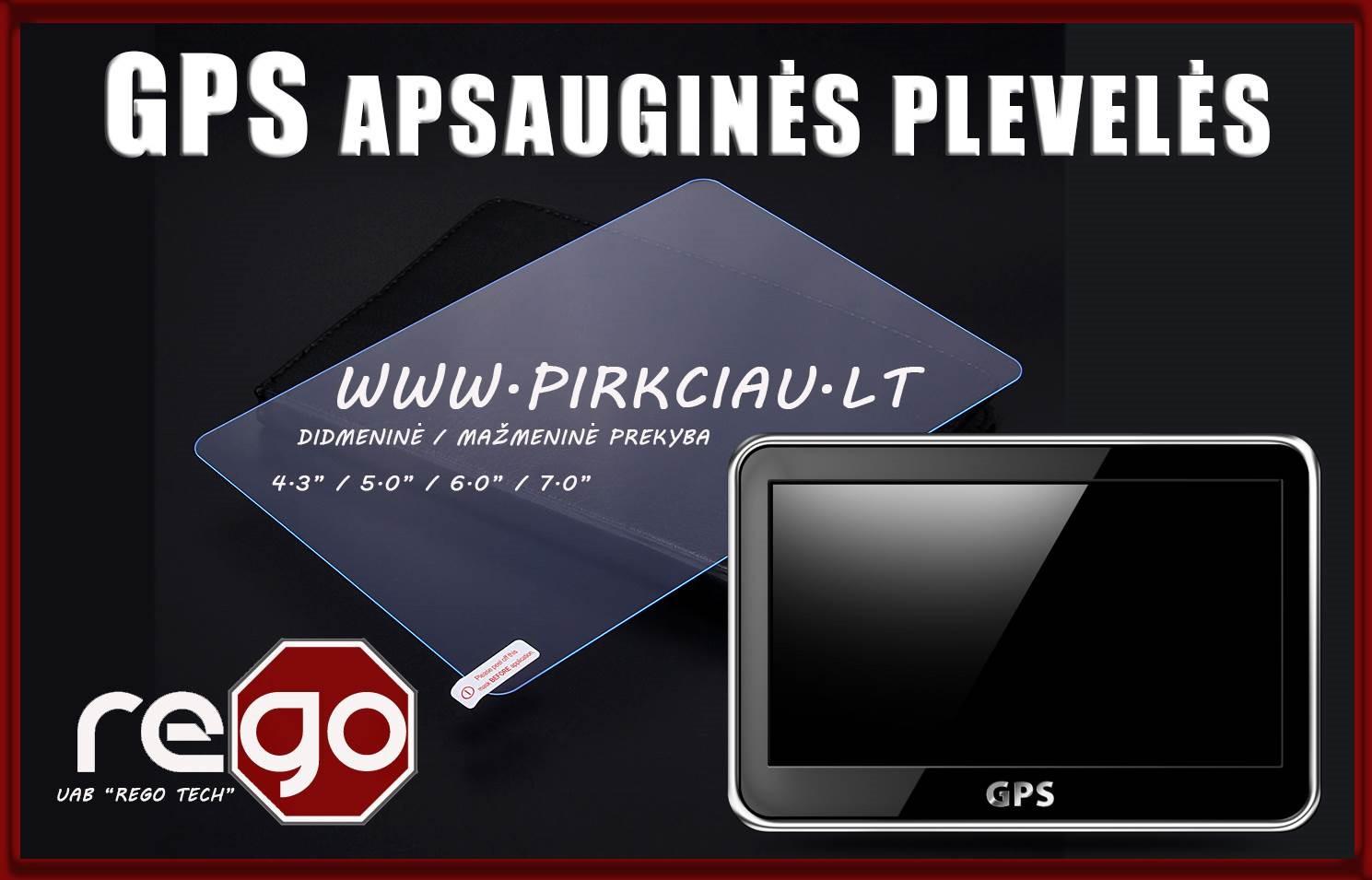 GPS navigacijų universalios apsauginės plėvelės