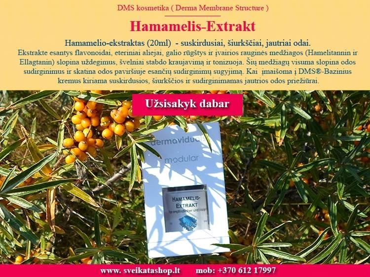 Hamamelio ekstraktas 20 ml, kosmetika dermaviduals Vokietija - AKCIJA