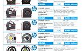 HP NEŠIOJAMŲ KOMPIUTERIŲ / FAN / AUŠINTUVAI / VENTILIATORIAI / NUO 10 EUR