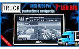 IHEX-9700 PRO TRUCK NAUJOS KARTOS NAVIGACIJA SUNKVEŽIMIUI+AUTOMOBILIUI