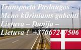 Įmonių ir gyventojų turto perkraustymas (perkraustymo paslaugos) Lietuva / DANIJA  / Lietuva / . Baldų pervežimas. Transporto paslaugos. Pervežimo, pe