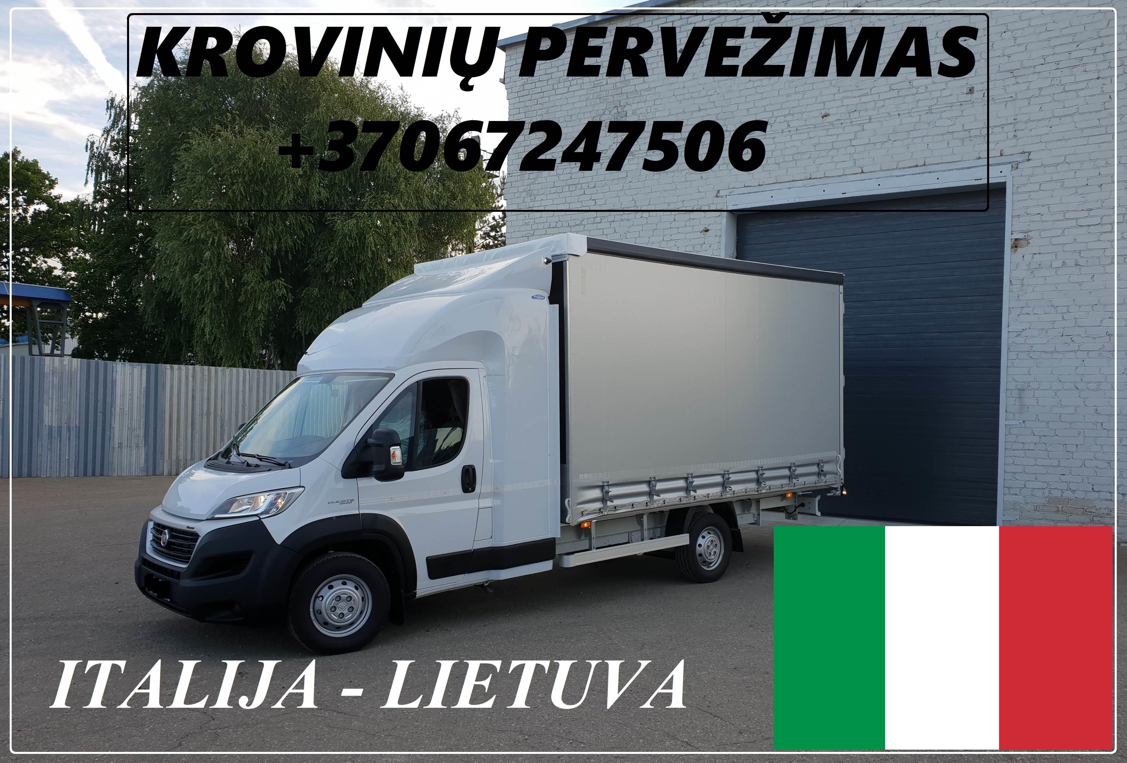 Įmonių ir gyventojų turto perkraustymas (perkraustymo paslaugos) Lietuva / Italija  / Lietuva / . Baldų pervežimas. Transporto paslaugos. Pervežimo, p