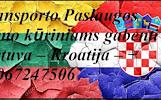 Įmonių ir gyventojų turto perkraustymas (perkraustymo paslaugos) Lietuva / Kroatija / Lietuva / . Baldų pervežimas. Transporto paslaugos. Pervežimo, p