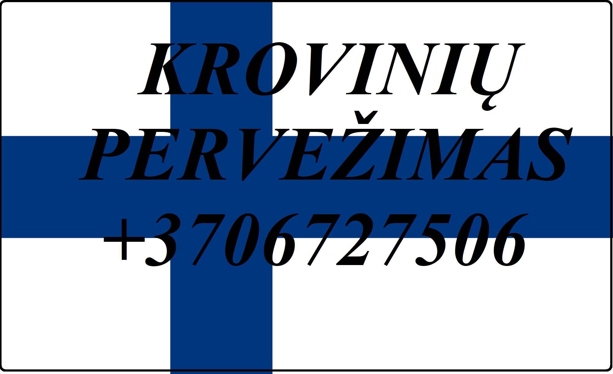 Įmonių ir gyventojų turto perkraustymas (perkraustymo paslaugos) Lietuva / Suomija  / Lietuva / . Baldų pervežimas. Transporto paslaugos. Pervežimo, p