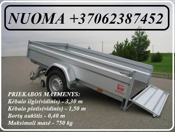 Ivairiu priekabu NUOMA ( Platformu, traliuku , verciamu vienasiu priekabu, moto priekabu) ALYTUS +37062387452