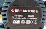 Juostinis šlifuoklis Erman 2000w.