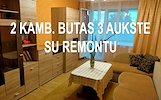 Kėdainių mieste gerai įrengtas 2 kambarių butas