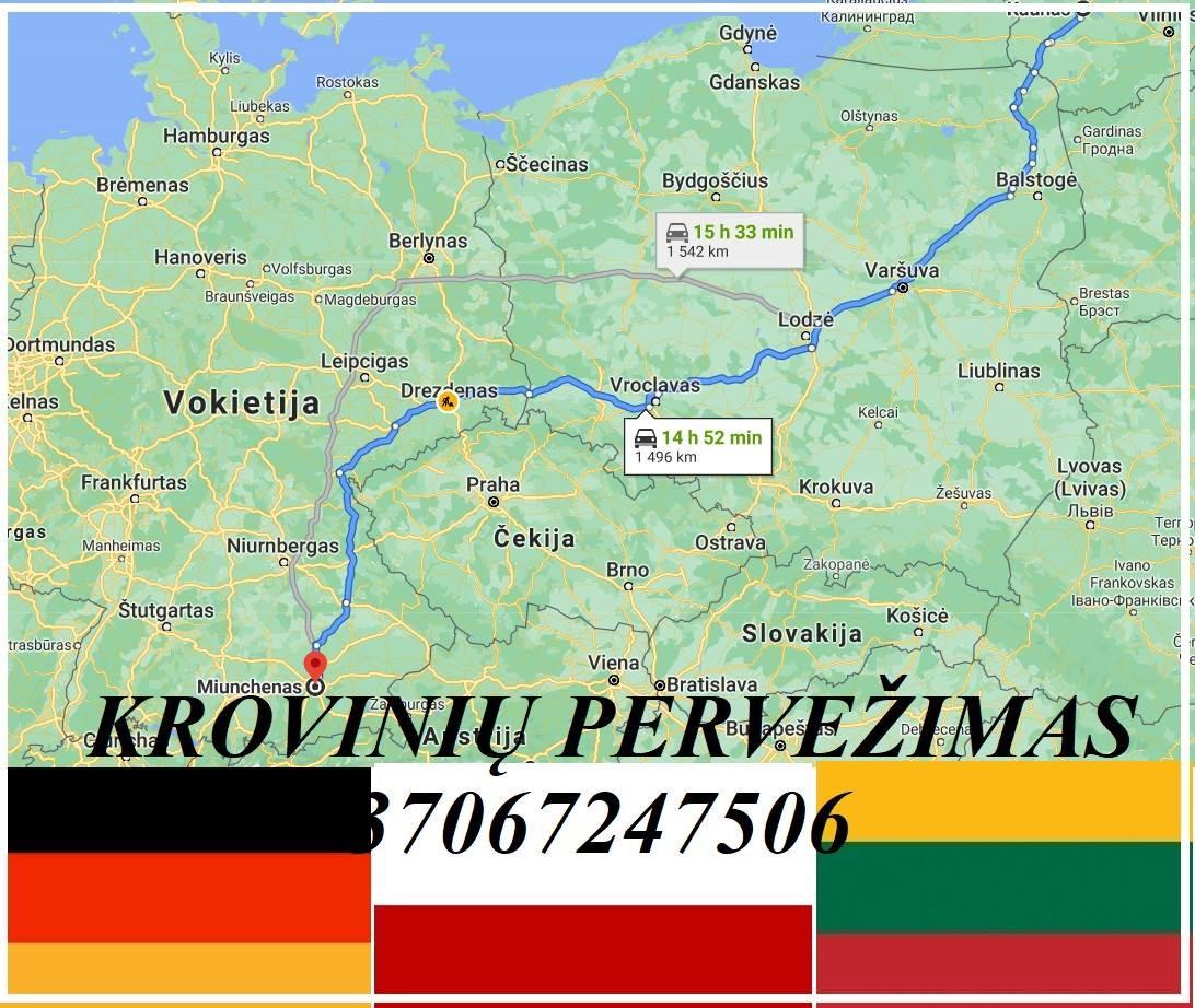KIEKVIENĄ SAVAITĘ VAŽIUOJAM LIETUVA-LENKIJA-VOKIETIJA / VOKIETIJA-LENKIJA-LIETUVA ( KAUNAS / Białystok / Warszawa / Lodzė / Wrocław / Drezdenas / Miun