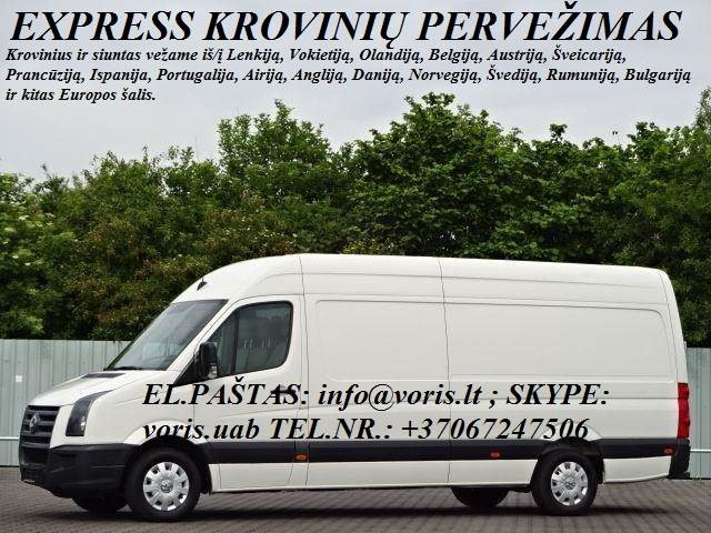 Kroviniai / Siuntos / Perkraustymas ! PAGĖGIAI Skubių (express) krovinių pervežimai / gabenimai. Siuntų pervežimas. ( Lietuva / Vokietija / Italija /
