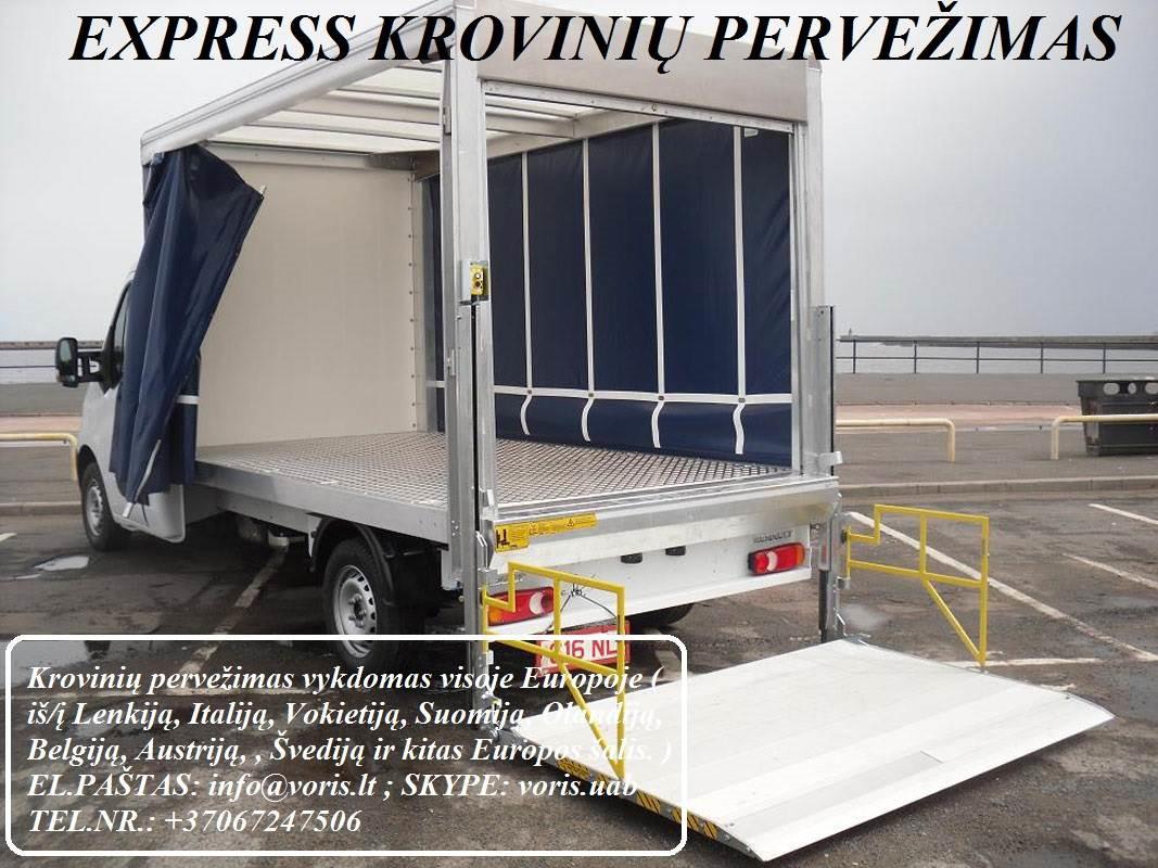 Kroviniai / Siuntos / Perkraustymas ! RIETAVAS Skubių (express) krovinių pervežimai / gabenimai. Siuntų pervežimas. ( Lietuva / Vokietija / Italija /
