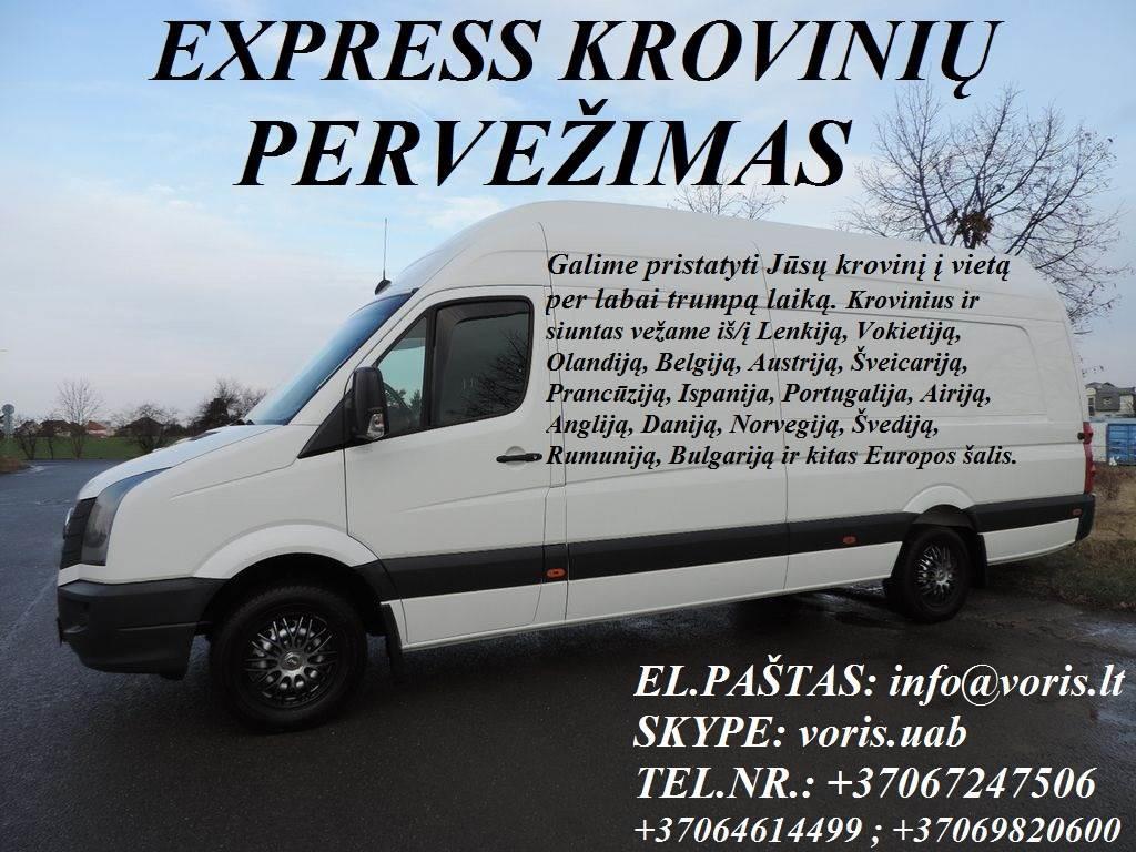 Kroviniai / Siuntos / Perkraustymas ! ŠILUTĖS Skubių (express) krovinių pervežimai / gabenimai. Siuntų pervežimas. ( Lietuva / Vokietija / Italija / A