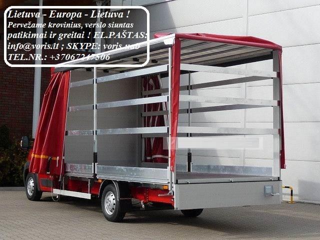 Kroviniai / Siuntos / Perkraustymas ! ŠVENČIONYS Skubių (express) krovinių pervežimai / gabenimai. Siuntų pervežimas. ( Lietuva / Vokietija / Italija