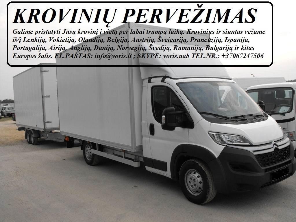 Kroviniai / Siuntos / Perkraustymas ! VILKAVIŠKIS Skubių (express) krovinių pervežimai / gabenimai. Siuntų pervežimas. ( Lietuva / Vokietija / Italija