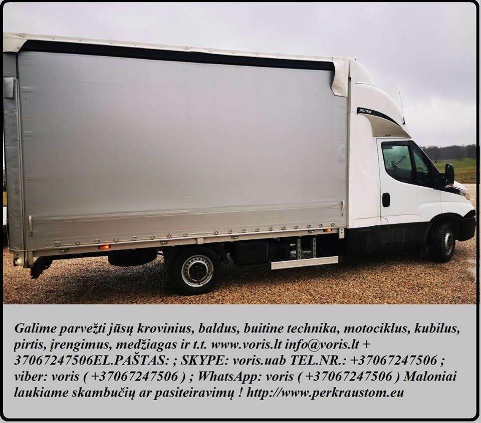 Krovinių gabenimas ( buitinės technikos, statybinių medžiagų, baldų, bei kitų Jūsų įsigytų prekių pristatymas/pervežimas) iki 1.2t Įmonių perkraustyma