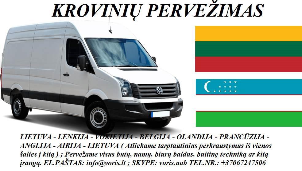KROVINIŲ GABENIMAS : į Uzbekistaną , iš Uzbekistano