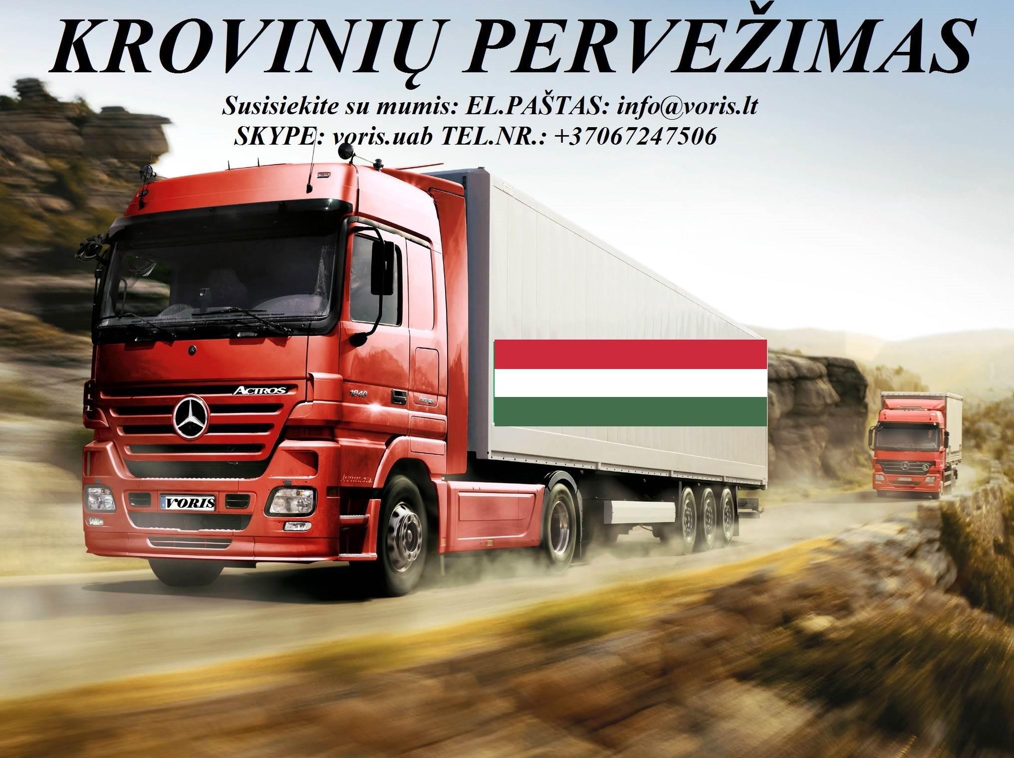 KROVINIŲ GABENIMAS : į Vengriją, iš Vengrijos