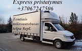 Krovinių pervežimas ir gabenimas vykdomas visose Europos šalyse.( 5/7 palečių kietašoniai mikroautobusiukai, aukštis iki 180 cm, 8 - 10 palečiu tentin