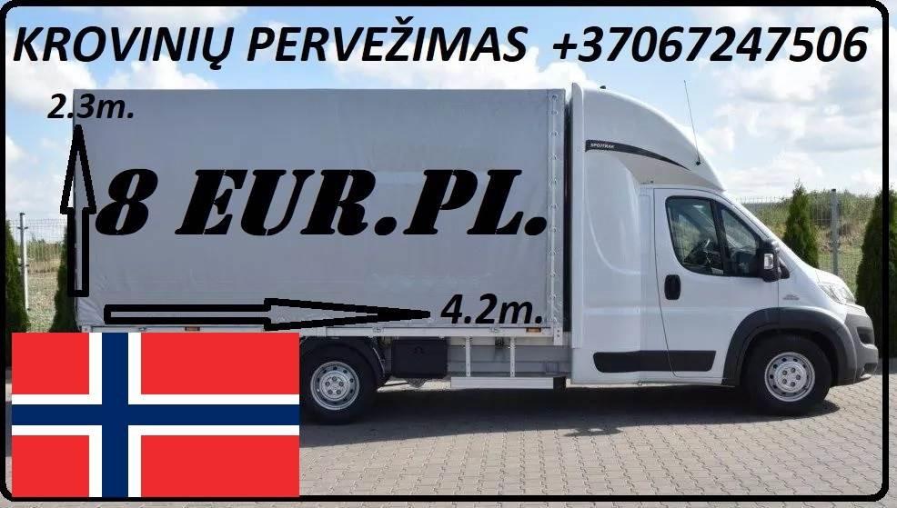 Krovinių Pervežimas iš Lietuvos į Norvegiją iš Norvegijos į Lietuvą.