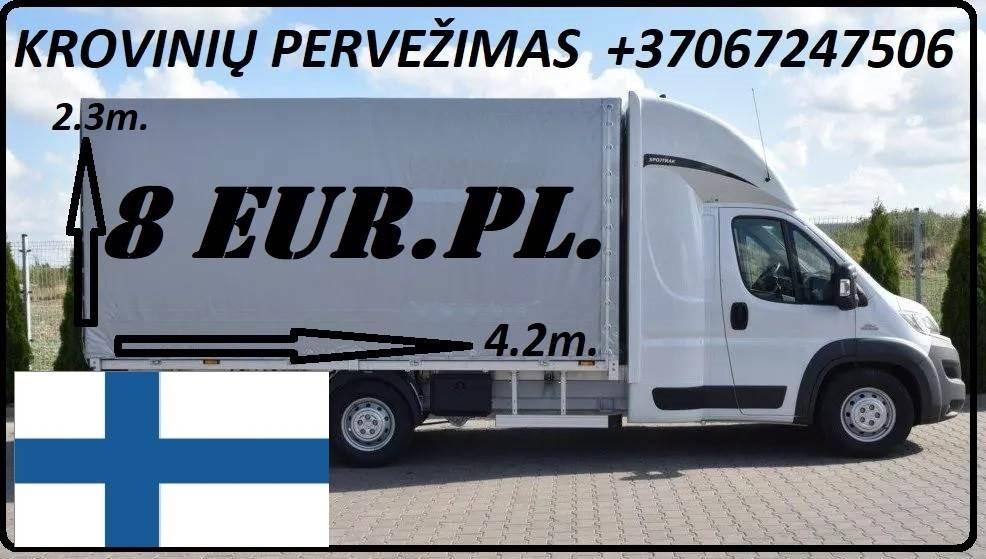 Krovinių Pervežimas iš Lietuvos į Suomiją iš Suomijos  į Lietuvą