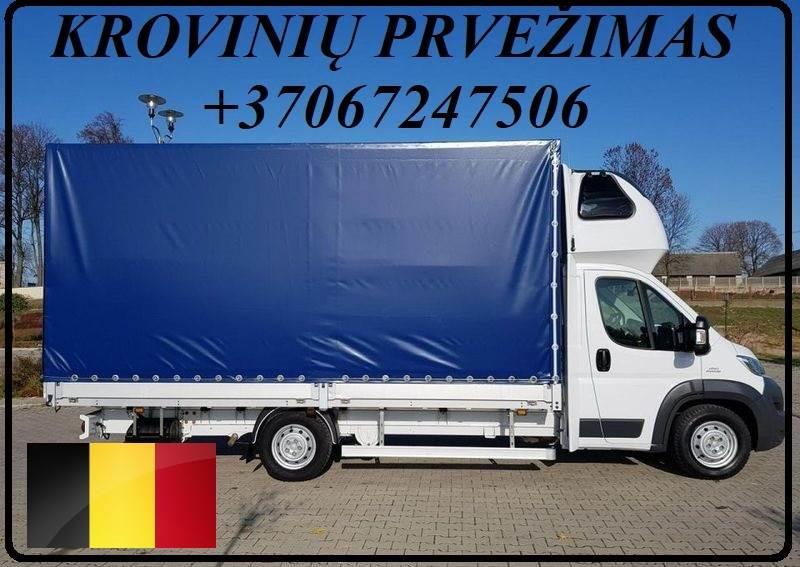 Krovinių Pervežimas tentiniu mikroautobusiuku Lietuva – BELGIJA – Lietuva