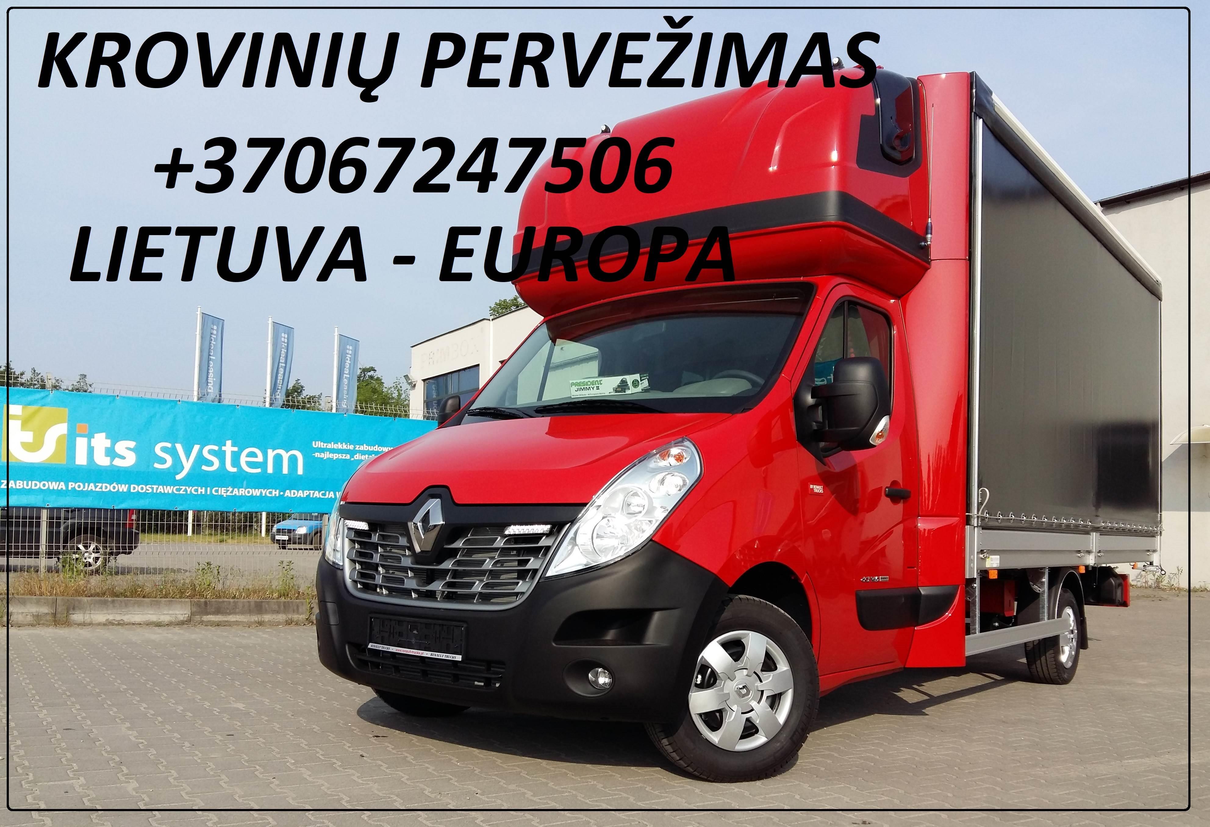 Krovinių Pervežimas tentiniu mikroautobusiuku Lietuva – Olandija – Lietuva ! Telpa 8 euro paletės iki 1200kg. Vežame krovinius, siuntas, baldus, įreng