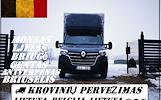 Lietuva -- Belgija -- Lietuva ( BE ) Galime parvežti jūsų krovinius, baldus, buitine technika, motociklus, kubilus, pirtis, įrengimus, medžiagas ir t.