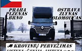 Lietuva -- Čekija -- Lietuva ( CZ ) Galime parvežti jūsų krovinius, baldus, buitine technika, motociklus, kubilus, pirtis, įrengimus, medžiagas ir t.t