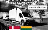 Lietuva - DANIJA - Lietuva ! Galime parvežti jūsų krovinius, baldus, buitine technika, motociklus, kubilus, pirtis, įrengimus, medžiagas ir t.t. www.v