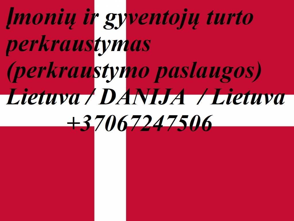 Lietuva - Danija - Lietuva / išvykstame 8 dieną / 9 dieną iš Lietuvos, kroviniai, siuntos, perkraustyams, express kroviniai, skubus krovinys. EL.PAŠTA