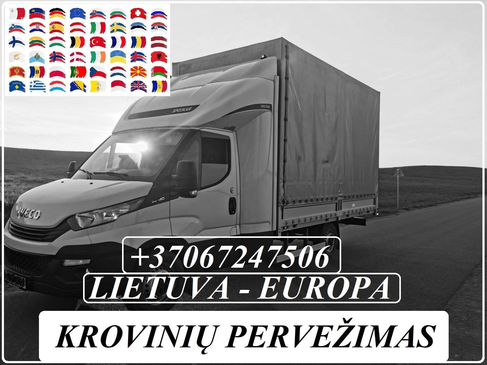 Lietuva - Europa - Lietuva ! Galime parvežti jūsų krovinius, baldus, buitine technika, motociklus, kubilus, pirtis, įrengimus, medžiagas ir t.t. www.v