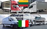 Lietuva -- Italija -- Lietuva // KROVINIU PERVEZIMAS // GABENIMAS // PERKRAUSTYMAS