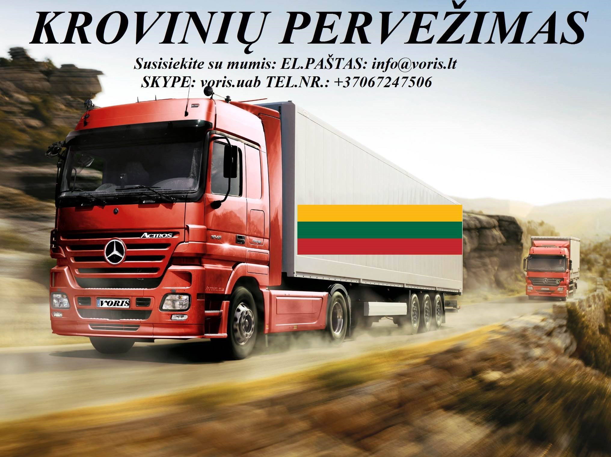 Lietuva - Lietuva ! Pervežame krovinius patikimai ir greitai ! Krovinių pervežimas vykdomas visoje Lietuvoje EL.PAŠTAS: info@voris.lt ; SKYPE: voris.u