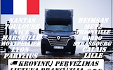 Lietuva -- Prancūzija -- Lietuva Galime parvežti jūsų krovinius, baldus, buitine technika, motociklus, kubilus, pirtis, įrengimus, medžiagas ir t.t. E