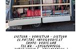 Lietuva - Vokietija - Lietuva Kiekviena savaite tentiniai krovininiai mikroautobusai. Express paslauga - pristatymas per 24h. + Europa!  We offer 24 h