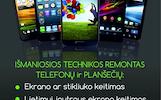 Mobiliųjų Telefonų taisymas, atrišimas, atblokavimas Vilniuje